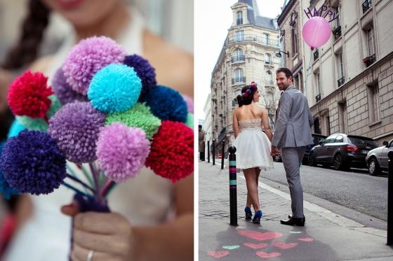 hi love, magazine, bordeaux, paris, mariage, 123nousirons, origami, bouquet de pompon